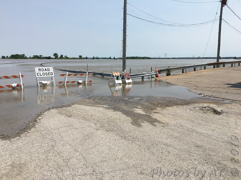Riverlands Way closed at gas station <br /> Riverlands Migratory Bird Sanctuary <br /> St. Charles County