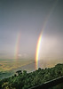 1974-02-0190 Rainbow from Ngorongoro Lodge, Ngorongoro Crater, June 12 1974