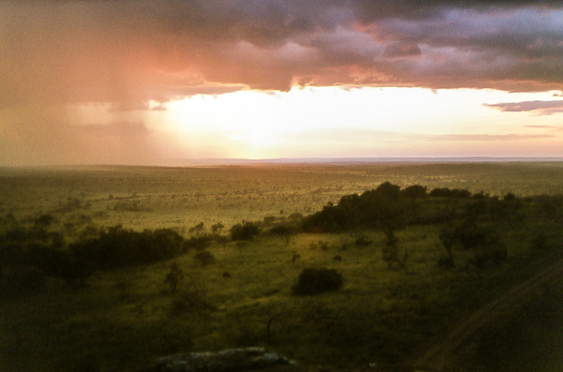 1974-02-2020 Sunset from Lobo Lodge, Serengeti, June 11 1974