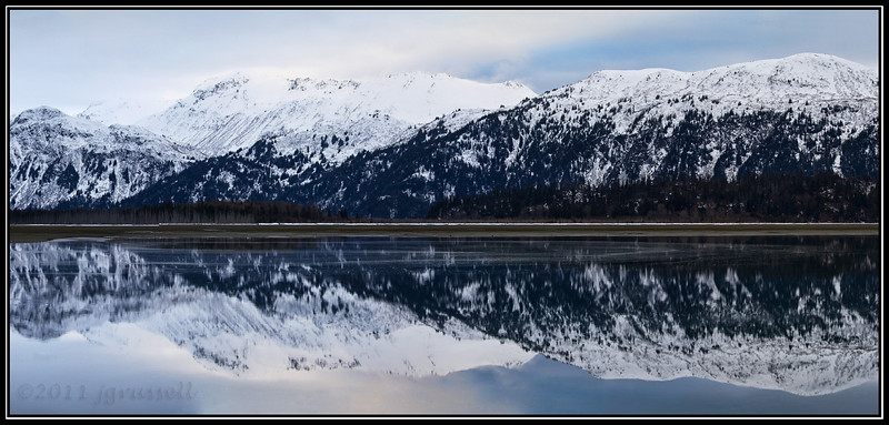 Reflections of Kenai Mountains