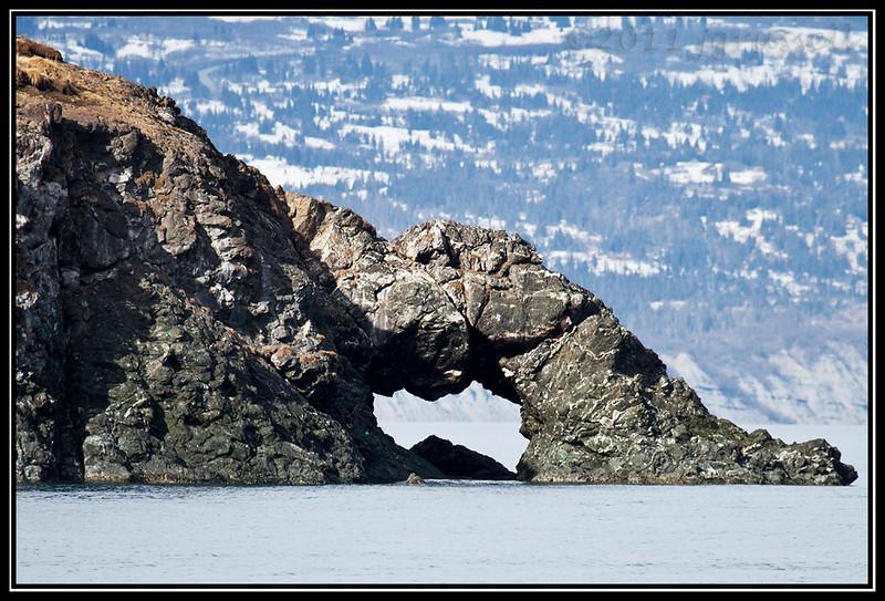 Rock formation in Kachemak Bay