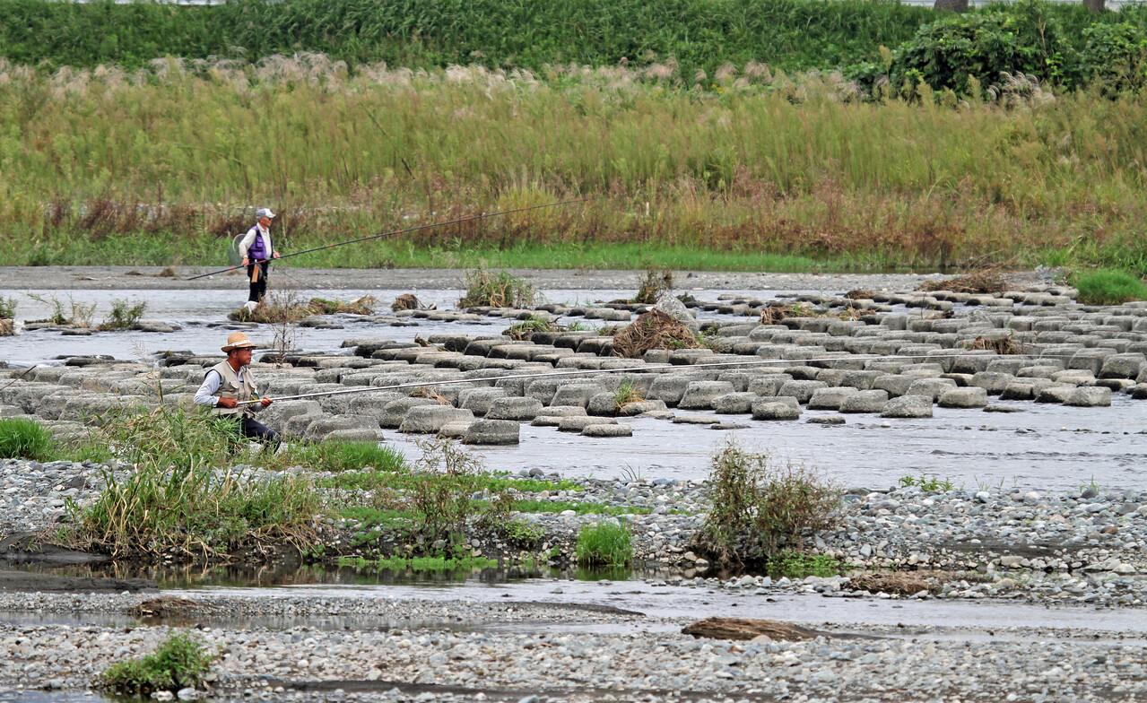 Sakawa River, Odawara <br /> <br /> River Environment<br /> <br /> Fly fishing for Ayu. <br /> <br /> Oct 7, 2013