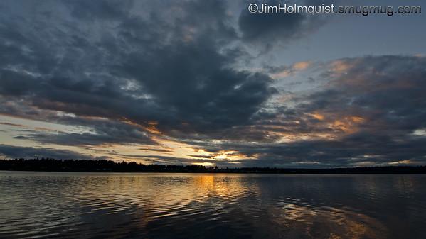 Sunset - without ND filter. Taken near Olympia, Wa.