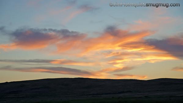 Sunset - Snake River Birds of Prey area near Kuna, ID. Taken in June.