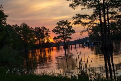 On lake Marion with Doug Gardner