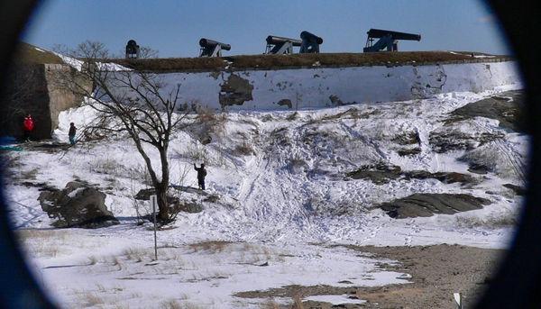 Sledders at Fort Phoenix (2/13)
