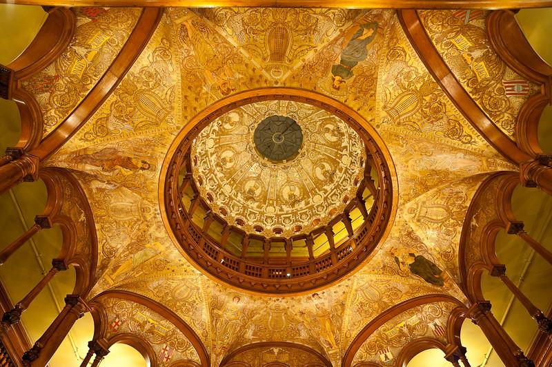 Ceiling detail, Ponce de Leon Hotel, now Flagler College
