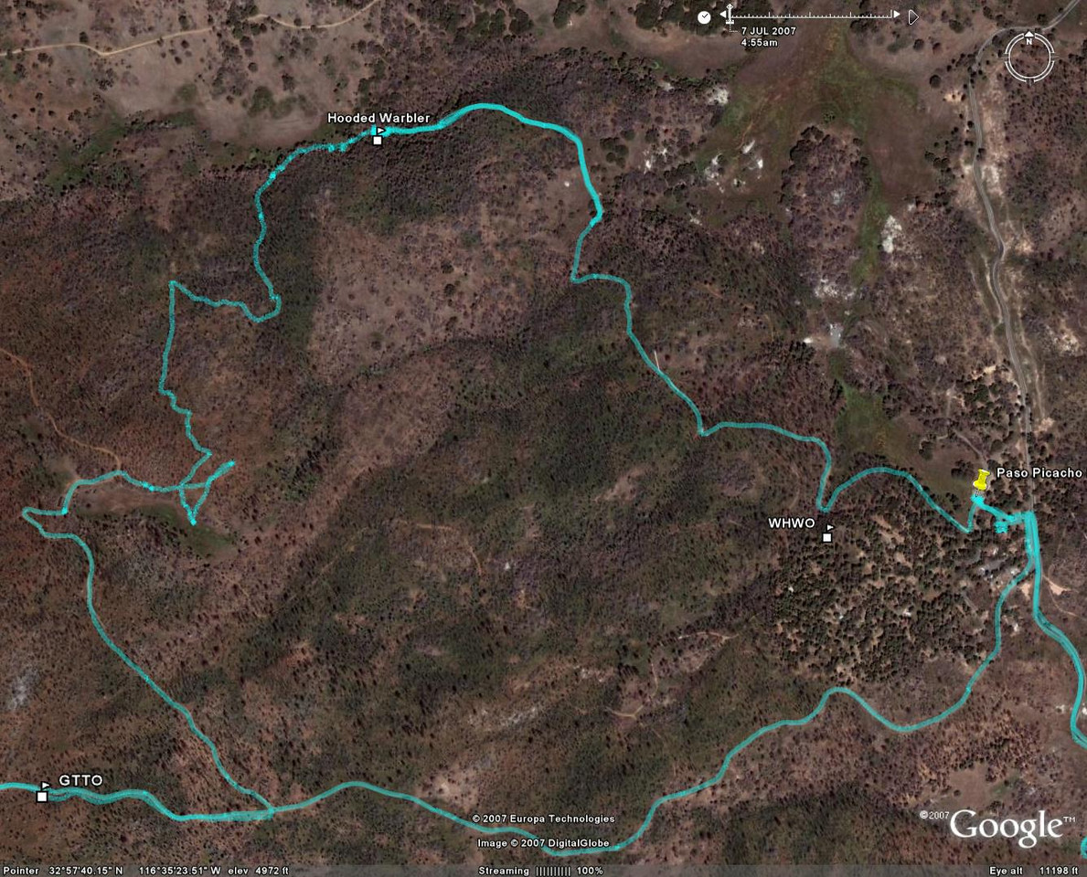 Map w. GPS tracklog