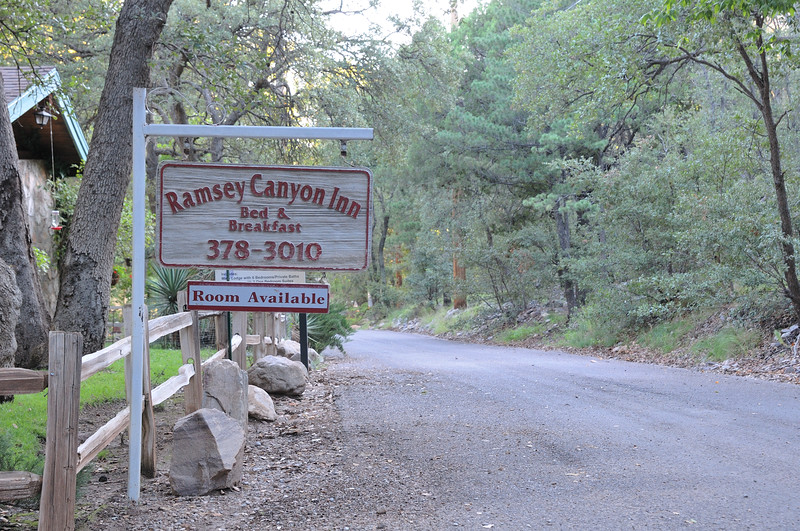 Ramsey Canyon Inn,Ramsey Canyon,AZ,2009.<br /> Looking at the sign to the east. Within a walking distance from the Inn's parking lot,there is Ramsey Canyon Preserve.