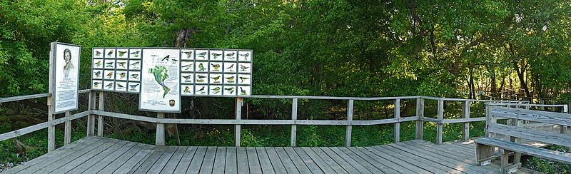 Entrance Platform to the Crane Creek SP boardwalk. 2 image photomerge