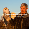 IMG_0666.jpg<br /> Norman Smith (Sanctuary Director at Mass Audubon's Blue Hills Trailside Museum<br /> & Norman Smith Environmental Education Center at Chickatawbut Hill) readies a Snowy Owl for release under a setting sun at Duxbury Beach.