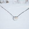 Snowy OIwl Flying Across Snow Covered Farm Field 2