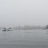 Vinalhaven Maine in fog