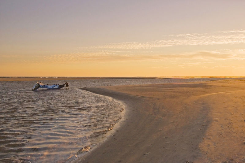 just a good low country beach scene.  plus everyone here would know what that is: kite surfing being put up.  if they did not know, it is still pretty.<br /> <br /> I clean up beaches, water, and docks, smile.<br /> <br /> 2 yes, John Mueller and Harry