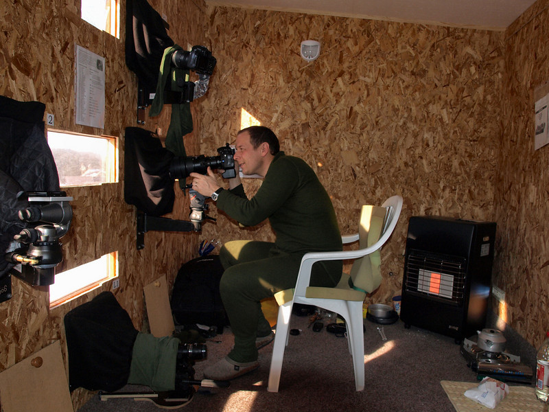 "Photo of me inside the eagle hide of <a href=""http://www.scanian-eagles.com/index.htm"">Scanian Eagles</a> taken by the hide owner Göran Birgersson"