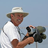 """Our guide """"Raptorhal"""" Cohen at work scanning the sea."""