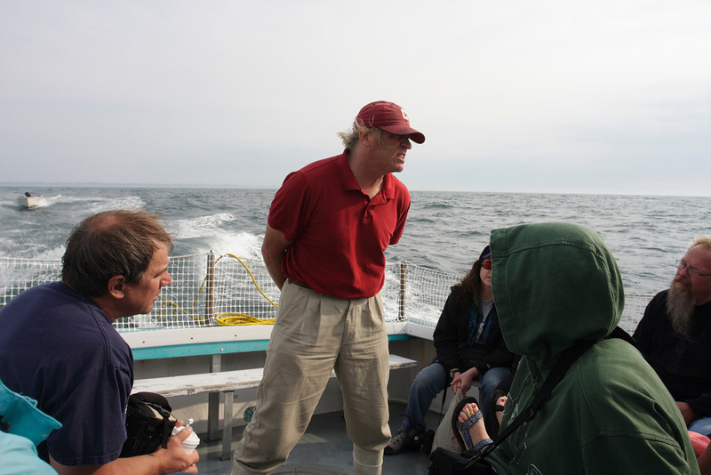 "I went from Cutler to Machias Seal Island with a great tour company, Bold Coast Charters.  Here is the owner and ship captain, Andrew Patterson, giving us an orientation.  They can be found at  <a href=""http://www.boldcoast.com"">http://www.boldcoast.com</a>."