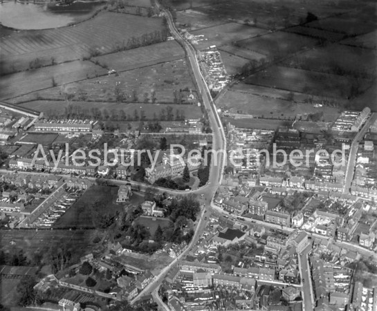 Buckingham Road aerial view, 1927