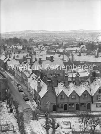 View from St Mary's Church, Feb 22nd 1955