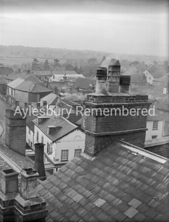 View from County Hall roof, Jan 9th 1950