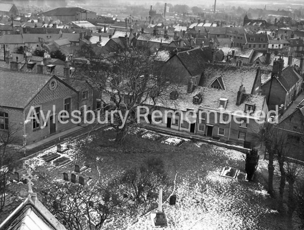 View from St Mary's Church, Feb 22 1955