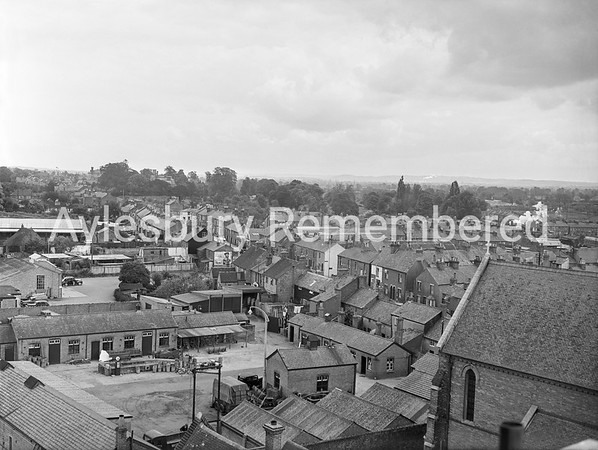 Cambridge Street seen from Telephone Exchange, June 9th 1955