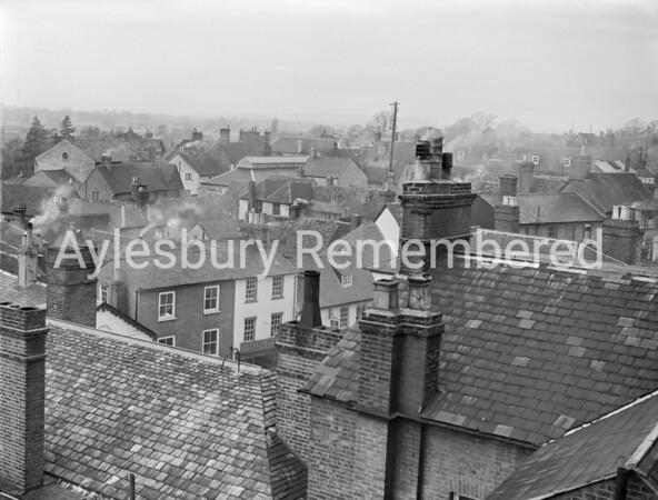 View from County Hall over Silver Street, Jan 9 1950