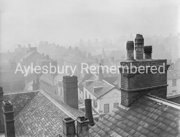 Great Western Street viewed from County Hall roof, Jan 9th 1950