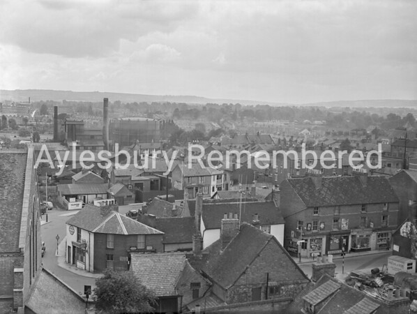 Upper Hundreds seen from Telephone Exchange, June 9th 1955