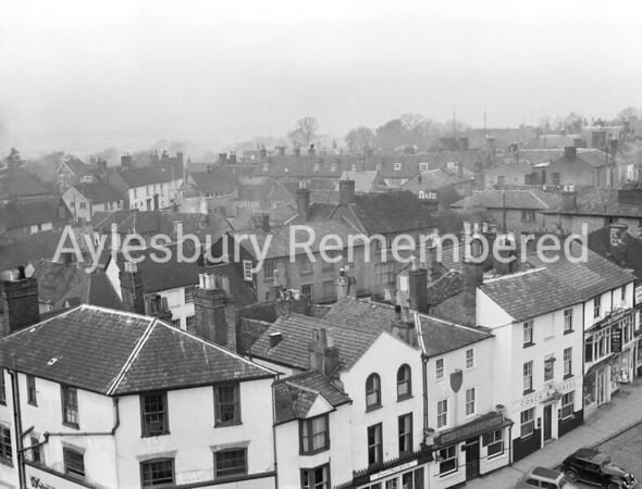 Silver Street area seen from County Hall, Jan 31st 1961