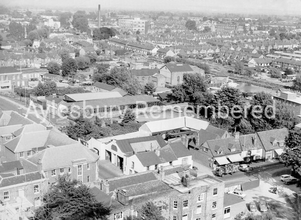View from County Hall crane, 1964