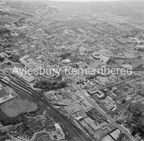 Town centre from the south, 1975
