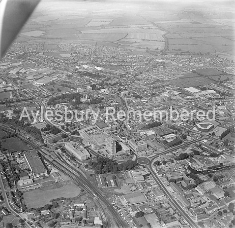 Town centre from the south, 1979