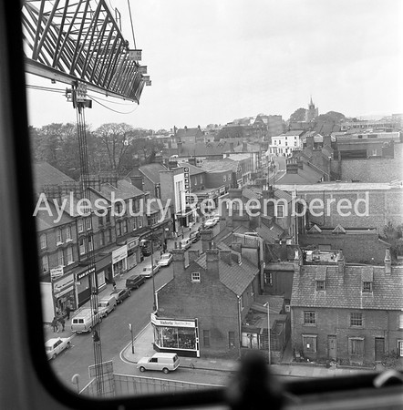 View from Hampden House site crane, Nov 2nd 1972