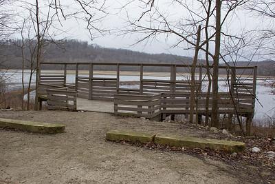 Stillwater Marsh Overlook, Monroe County, Indiana, March 2013.