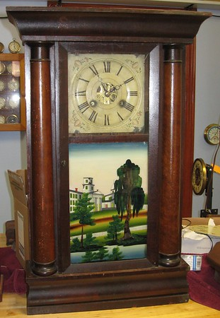 Birge & Fuller 8 Day Half Column Clock with 30 Hour Movement