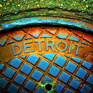 A shot of a Detroit steam cover by Sooney Kadouh of Royal Oak, who will be showing work at the Common Ground Birmingham Street Art Fair this weekend, Sept. 17-18.