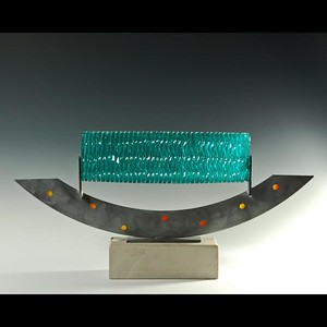 A sculpture with glass by Reza Pishgahi, who will be showing work at the Common Ground Birmingham Street Art Fair this weekend, Sept. 17-18.