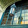 the light in the doorway, detailed trim work on a building doorway in Birmingham, AL
