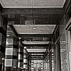 down the corridor of columns, the Harbert Center, Birmingham, Alabama