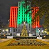 Taken this year - City Hall illuminated with the Christmas tree at Linn Park.