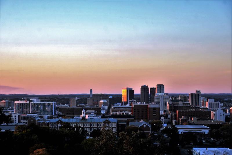 """Birmingham with an """"Auburn"""" like sky."""