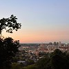 """The skyline through and the """"Auburn"""" like sky."""
