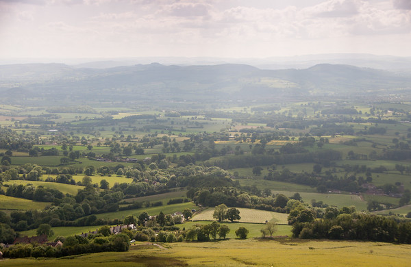 The view from the Clee Hills