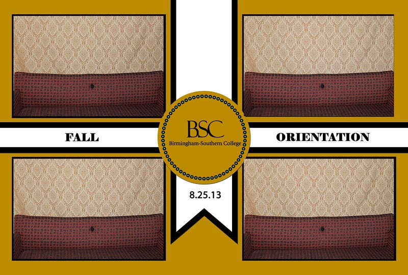 Birmingham Southern College Fall Orientation 2013