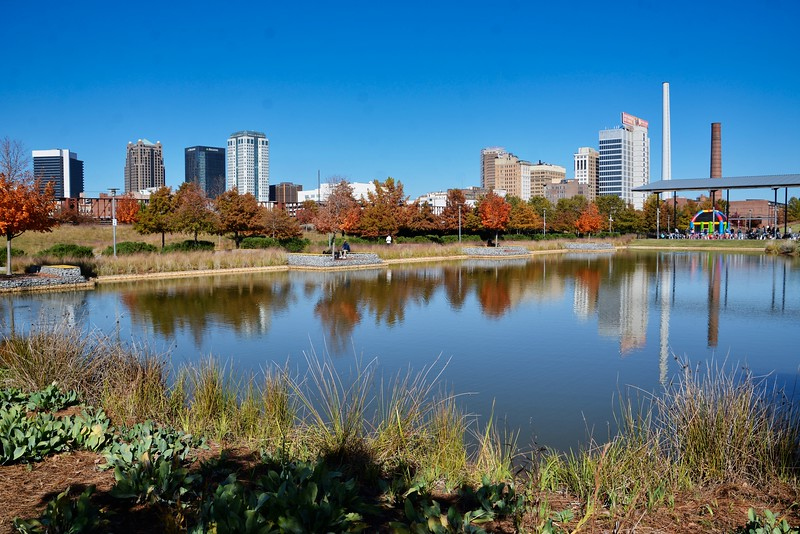Now it's onto Railroad Park. Love the lake and getting reflections. The blue sky and colors were perfect for this picture and the next two I took.