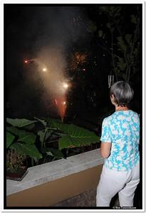 Tim's fireworks show.