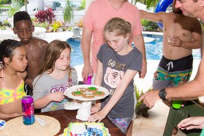 Kids laser focused on the cookies