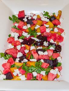 Salad: Beets, Watermelon and Walnuts