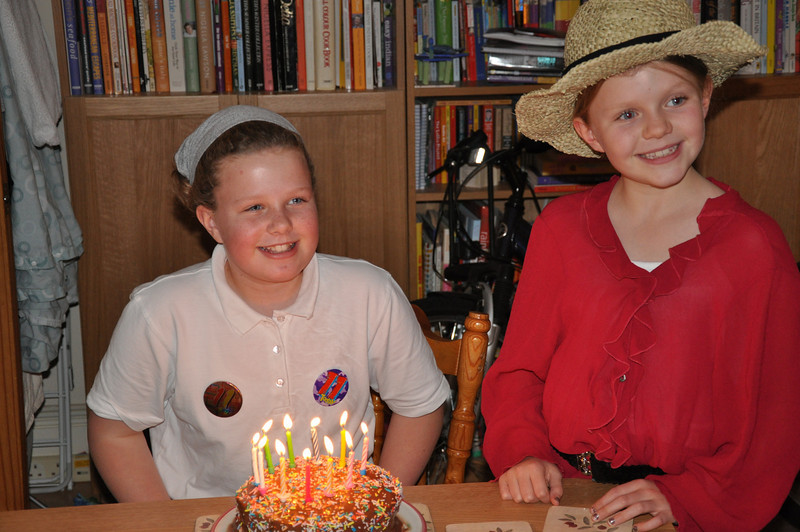 Katie & Lucy - and who'll blow out the eleven candles?